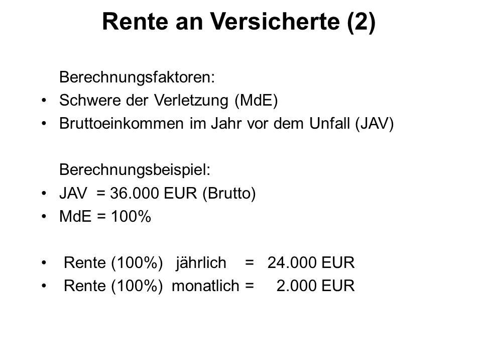 Rente an Versicherte (2)