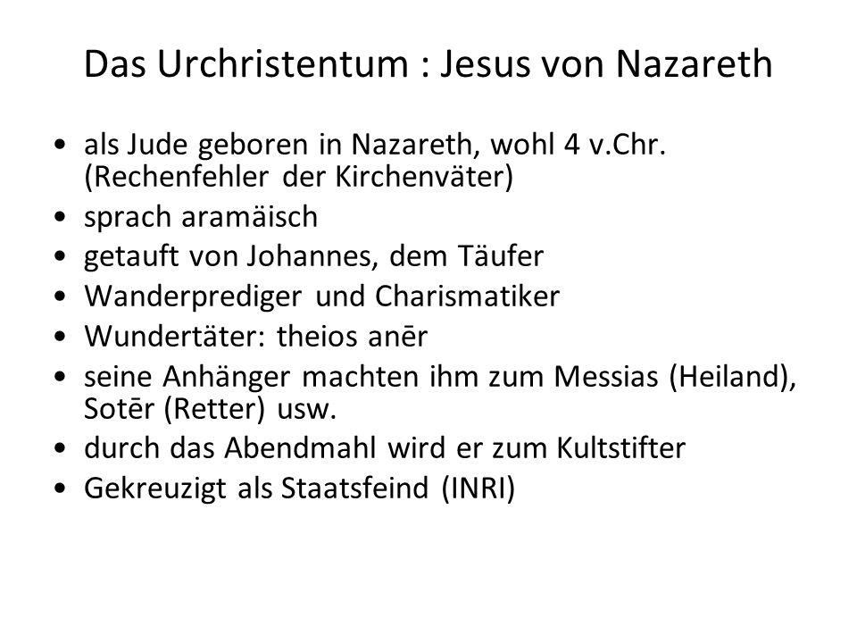 Das Urchristentum : Jesus von Nazareth