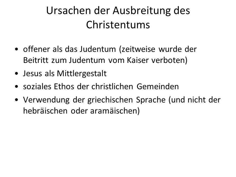 Ursachen der Ausbreitung des Christentums