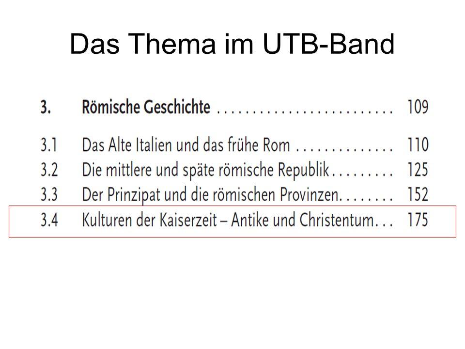 Das Thema im UTB-Band