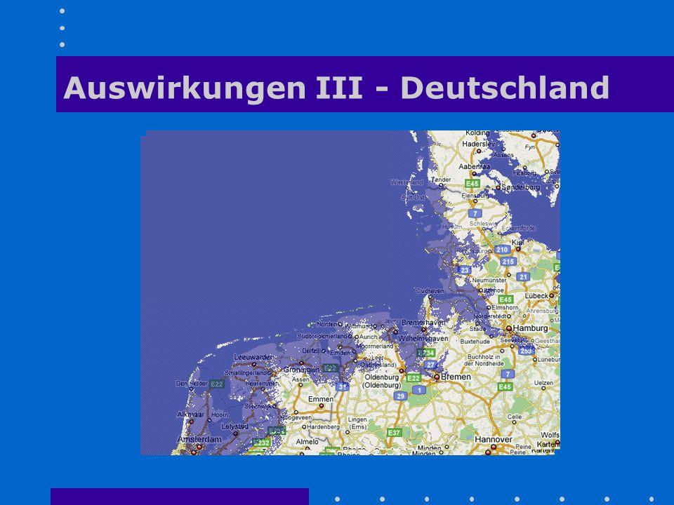 Auswirkungen III - Deutschland