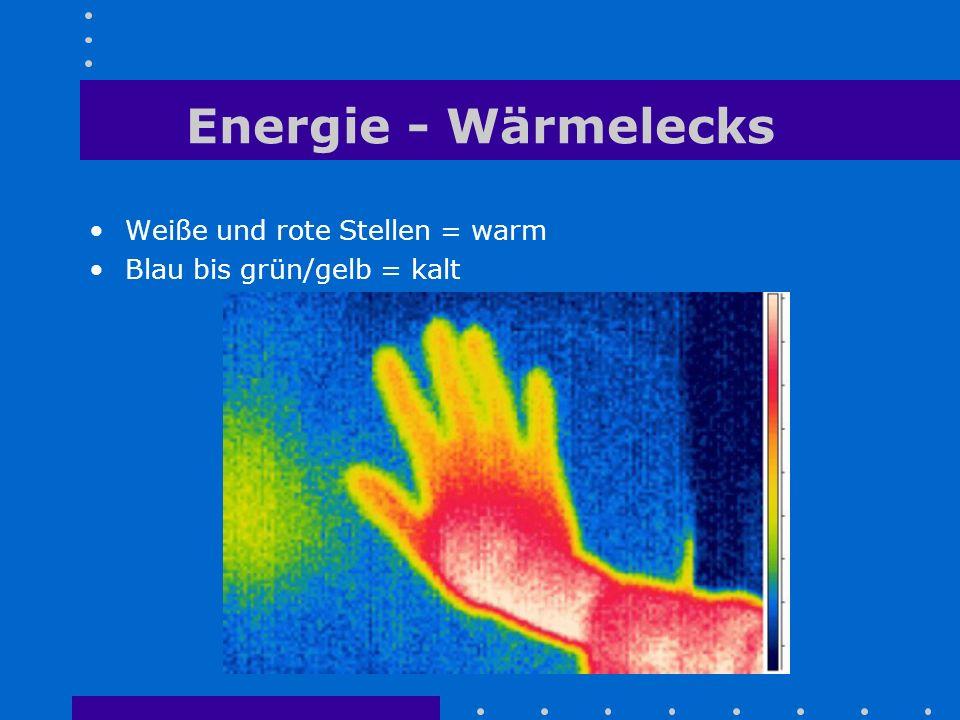 Energie - Wärmelecks Weiße und rote Stellen = warm