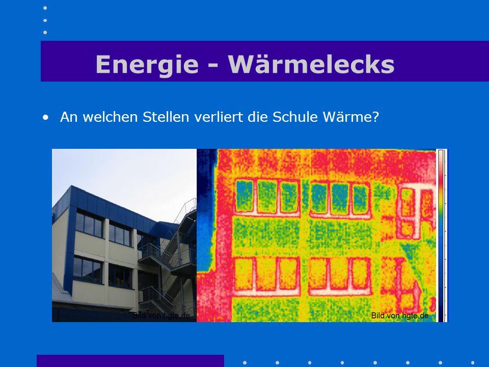 Energie - Wärmelecks An welchen Stellen verliert die Schule Wärme
