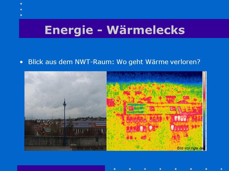Energie - Wärmelecks Blick aus dem NWT-Raum: Wo geht Wärme verloren