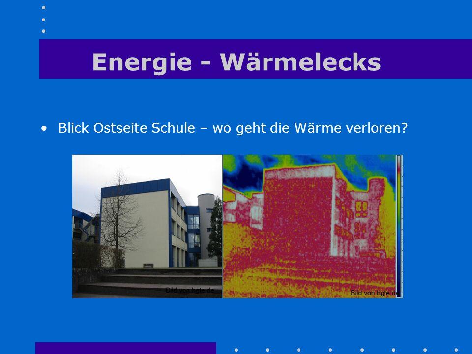 Energie - Wärmelecks Blick Ostseite Schule – wo geht die Wärme verloren