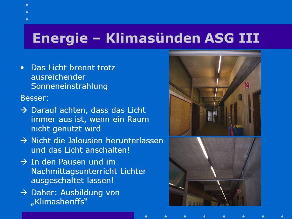 Energie – Klimasünden ASG III