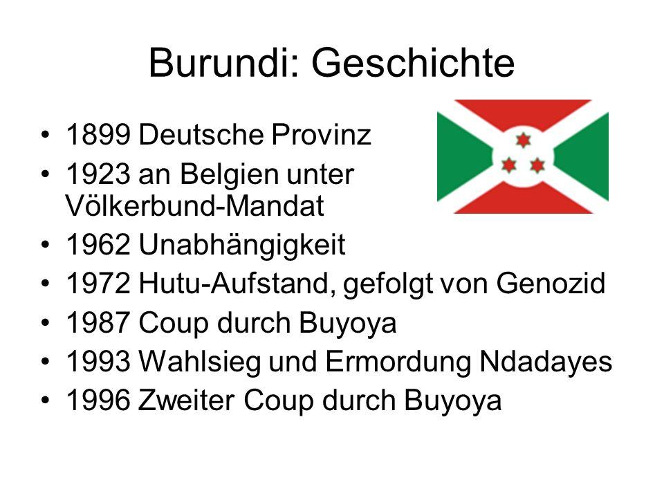 Burundi: Geschichte 1899 Deutsche Provinz