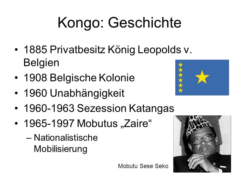 Kongo: Geschichte 1885 Privatbesitz König Leopolds v. Belgien