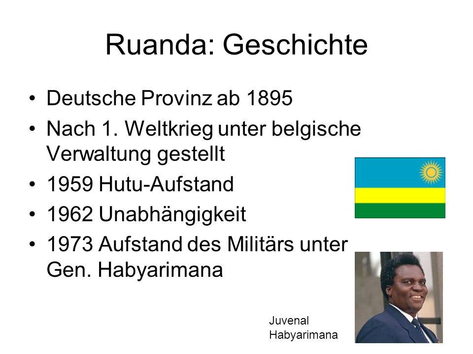 Ruanda: Geschichte Deutsche Provinz ab 1895
