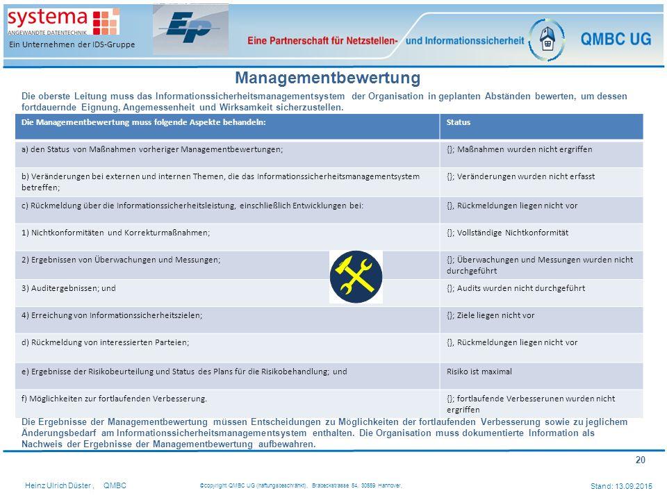 Managementbewertung