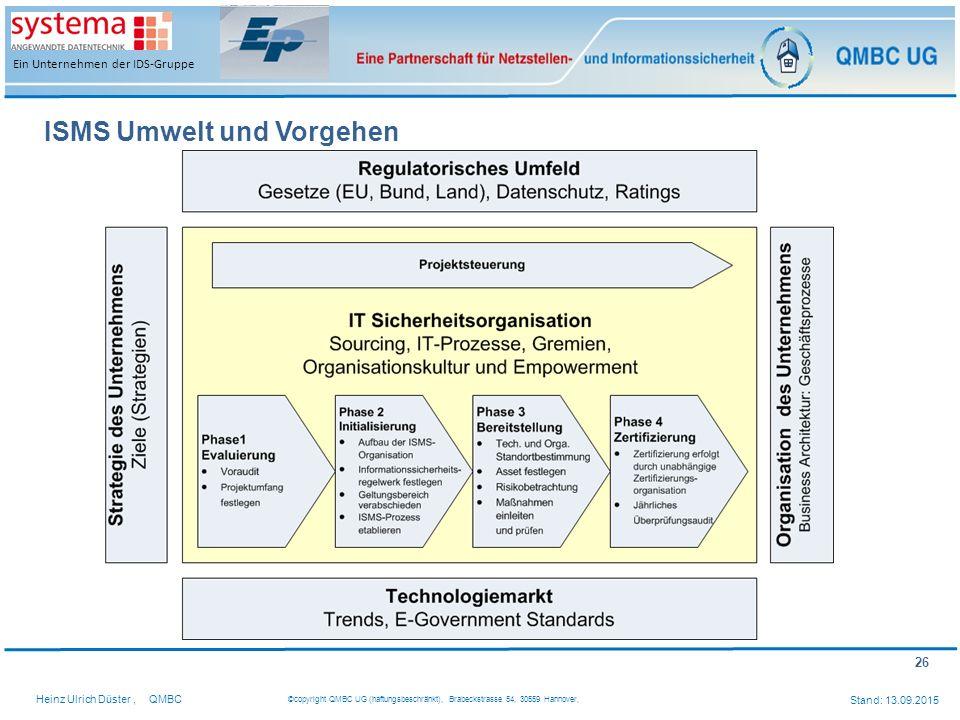 ISMS Umwelt und Vorgehen