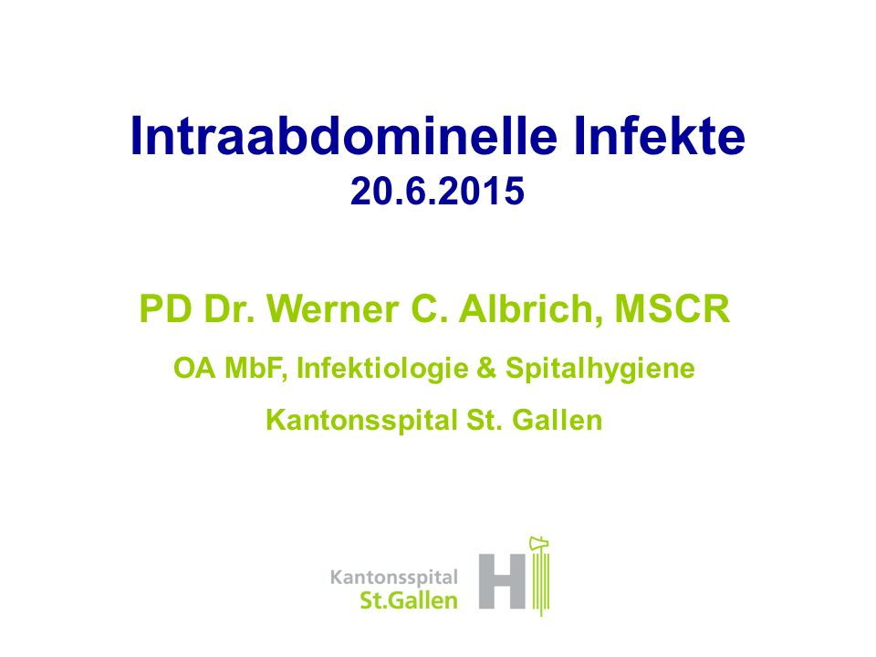 Intraabdominelle Infekte 20.6.2015