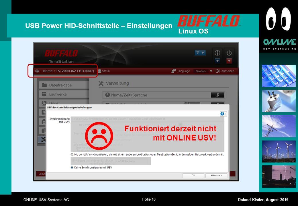  Funktioniert derzeit nicht mit ONLINE USV!