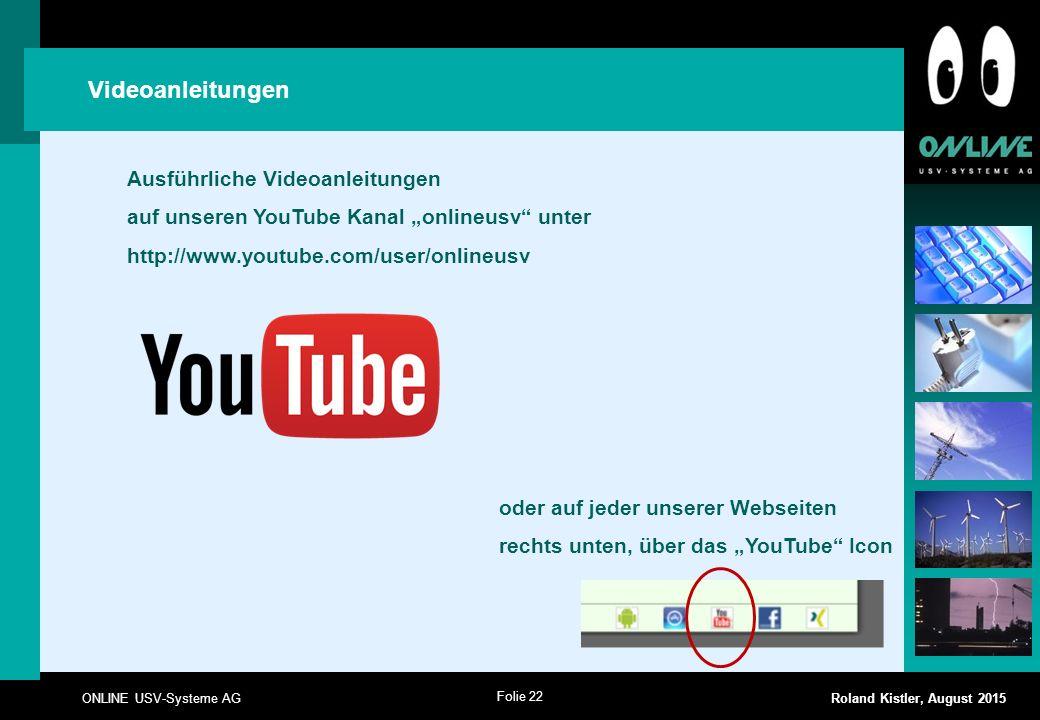 Videoanleitungen Ausführliche Videoanleitungen