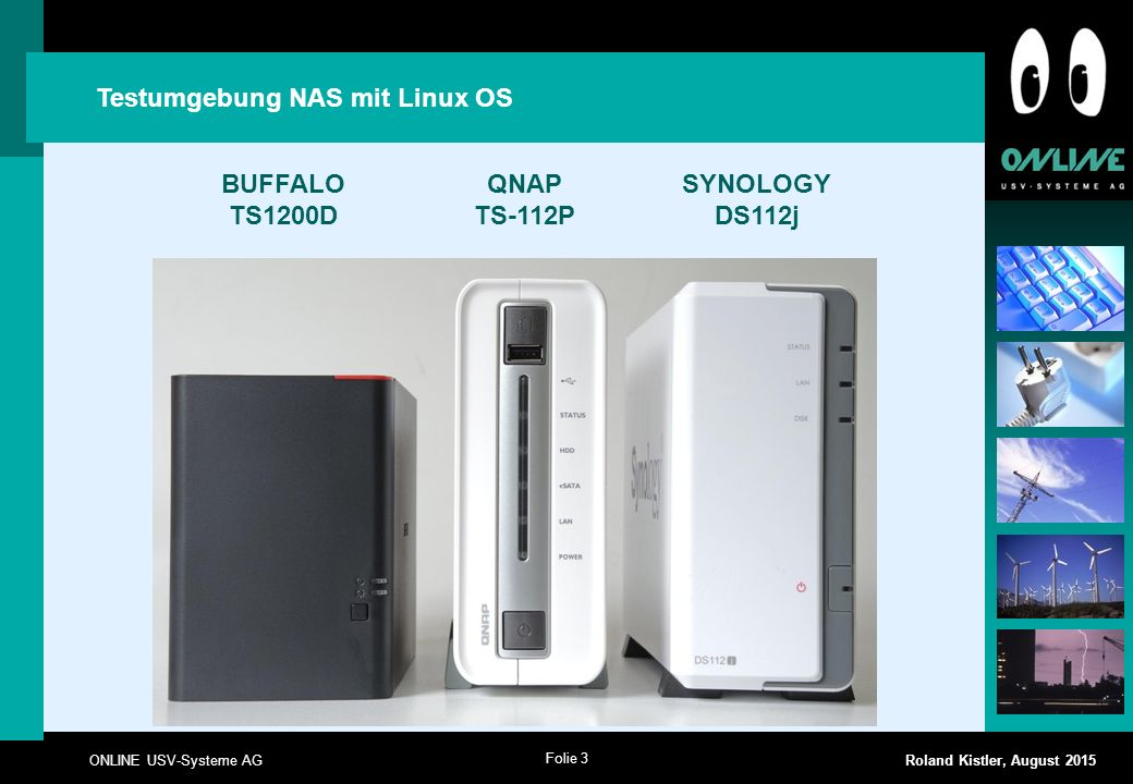 Testumgebung NAS mit Linux OS