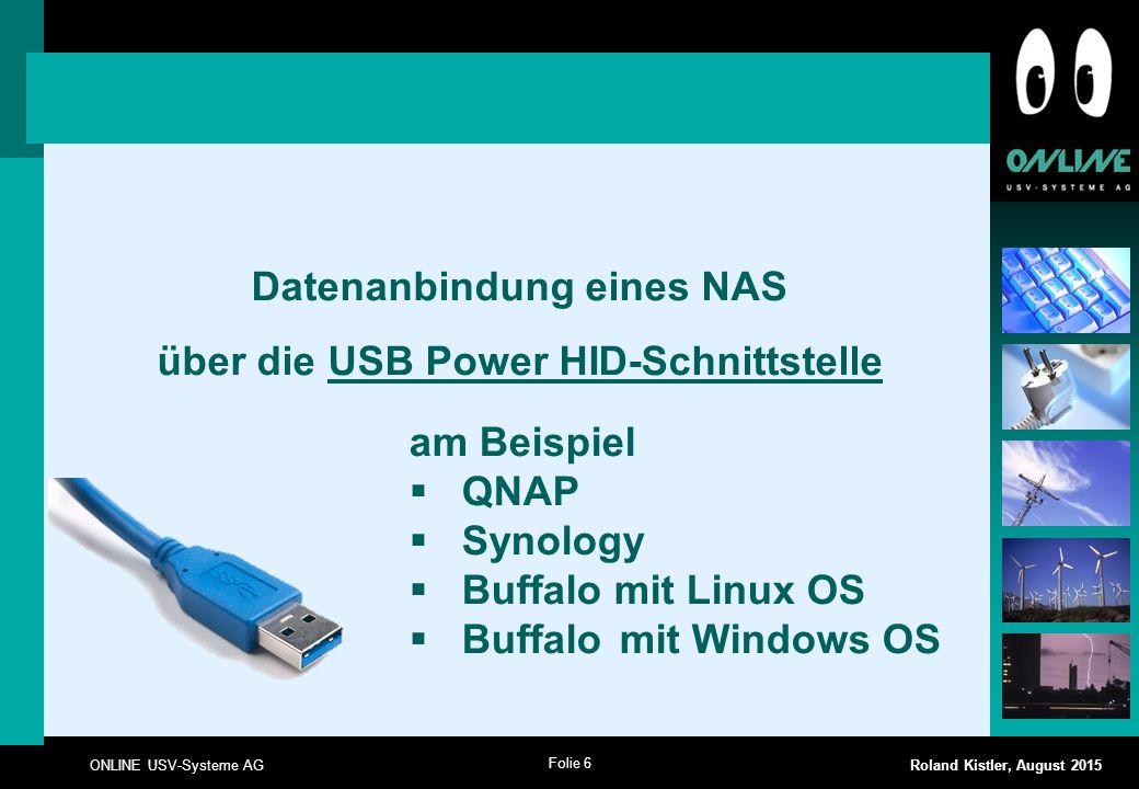 Datenanbindung eines NAS über die USB Power HID-Schnittstelle