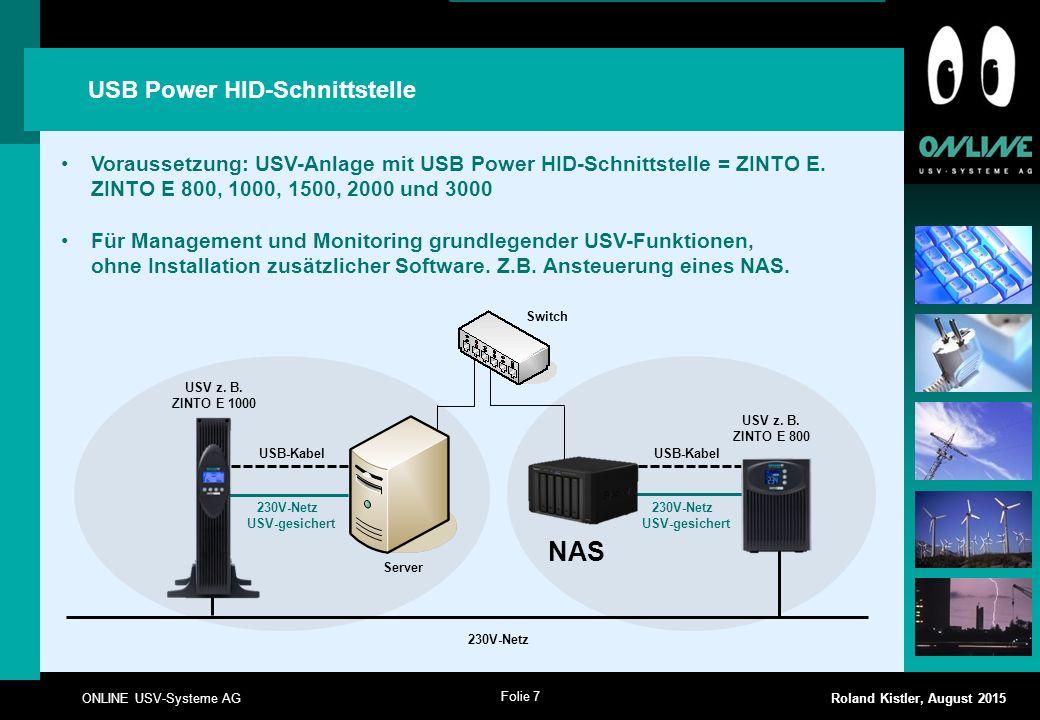 NAS USB Power HID-Schnittstelle