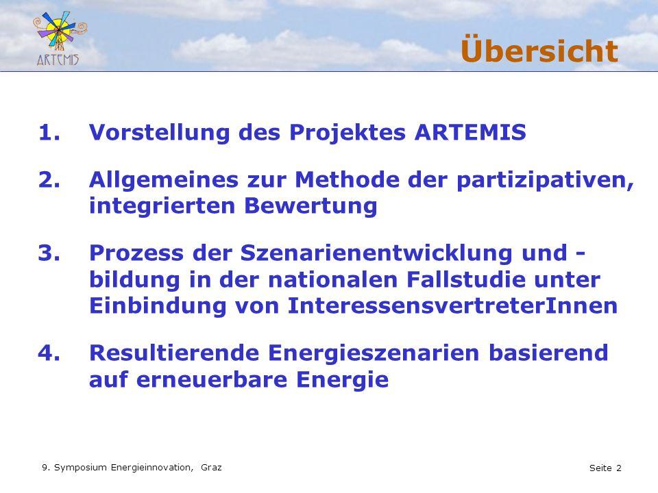 Übersicht Vorstellung des Projektes ARTEMIS