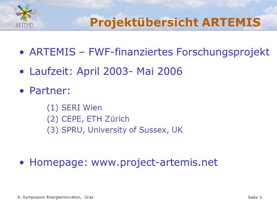 Projektübersicht ARTEMIS