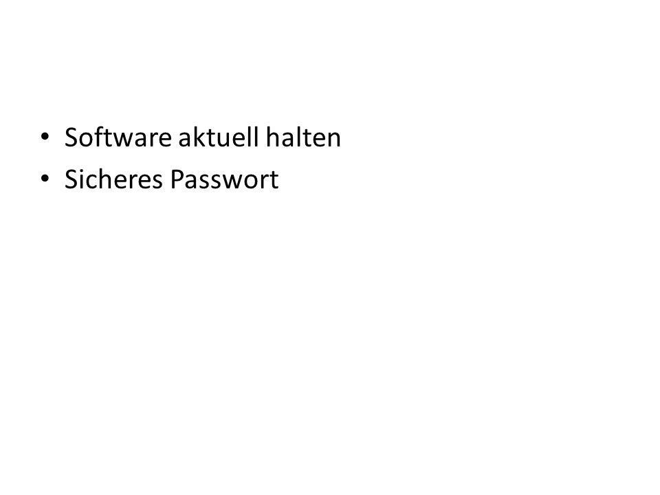 Software aktuell halten