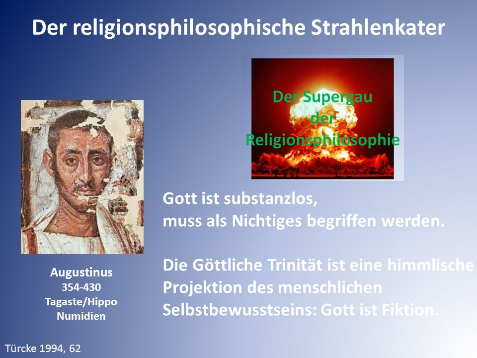 Der religionsphilosophische Strahlenkater Tagaste/Hippo Numidien