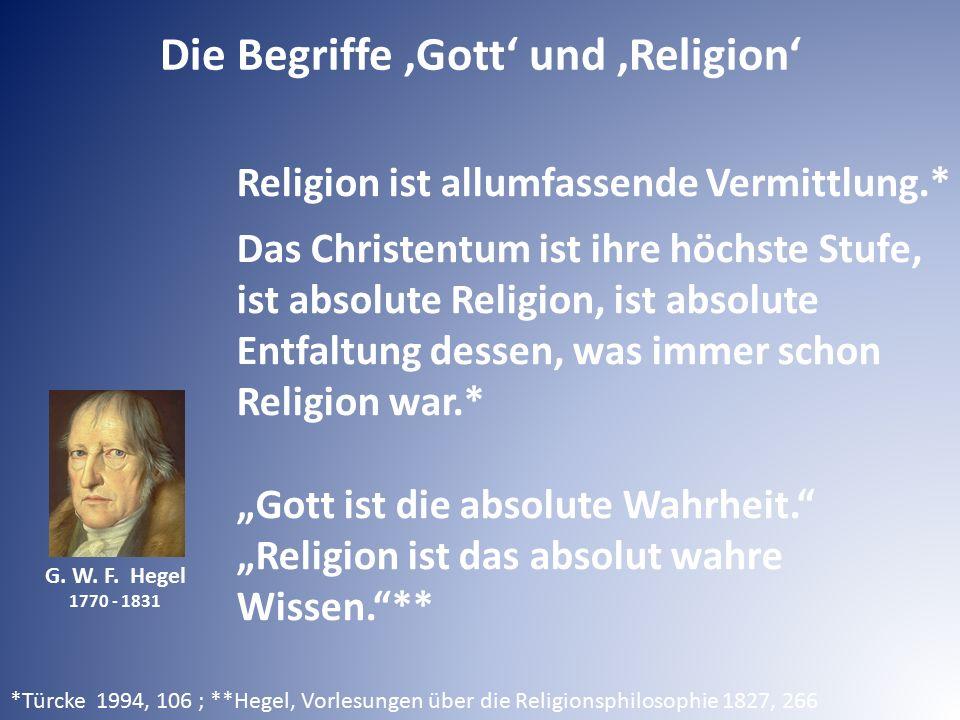 Die Begriffe 'Gott' und 'Religion'