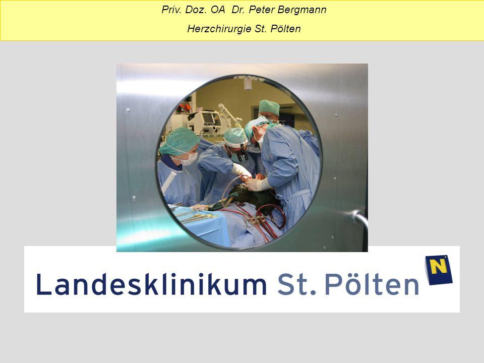 Priv. Doz. OA Dr. Peter Bergmann Herzchirurgie St. Pölten