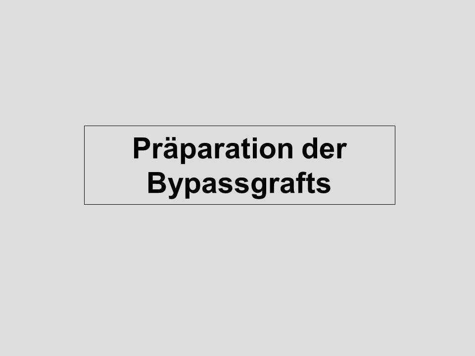 Präparation der Bypassgrafts