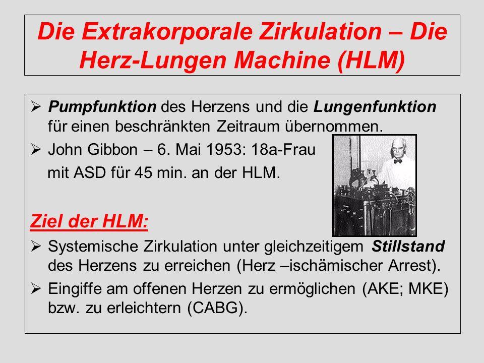 Die Extrakorporale Zirkulation – Die Herz-Lungen Machine (HLM)
