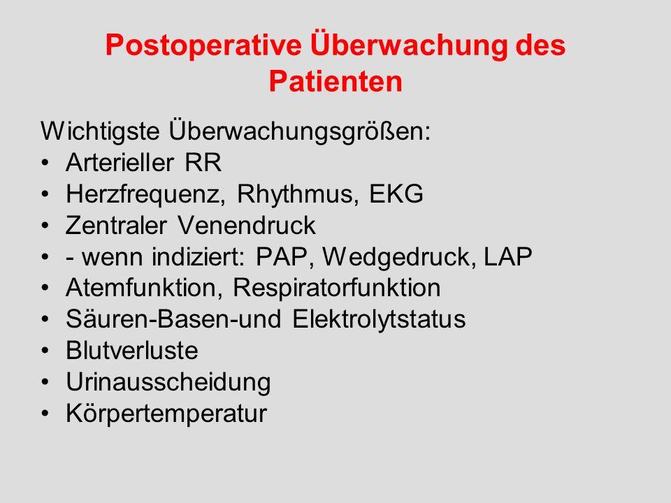 Postoperative Überwachung des Patienten