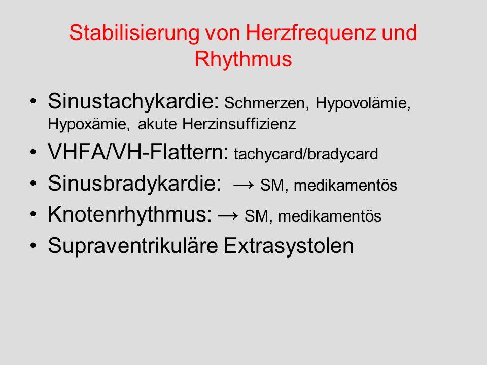 Stabilisierung von Herzfrequenz und Rhythmus