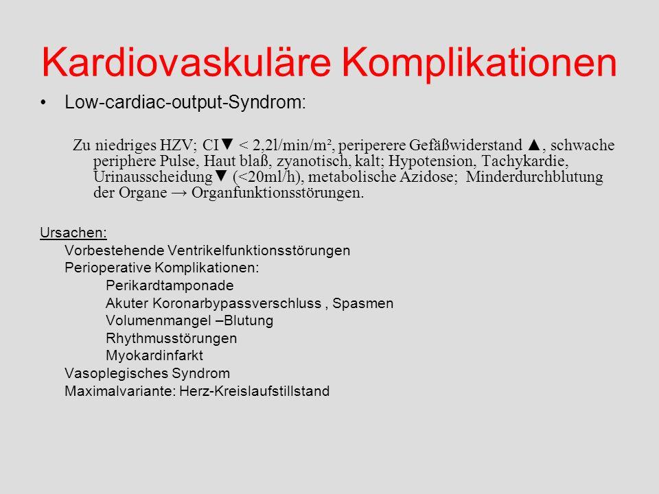 Kardiovaskuläre Komplikationen