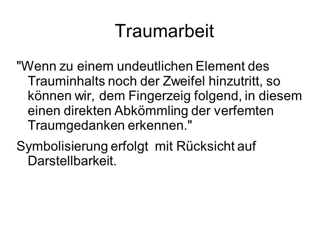 Traumarbeit