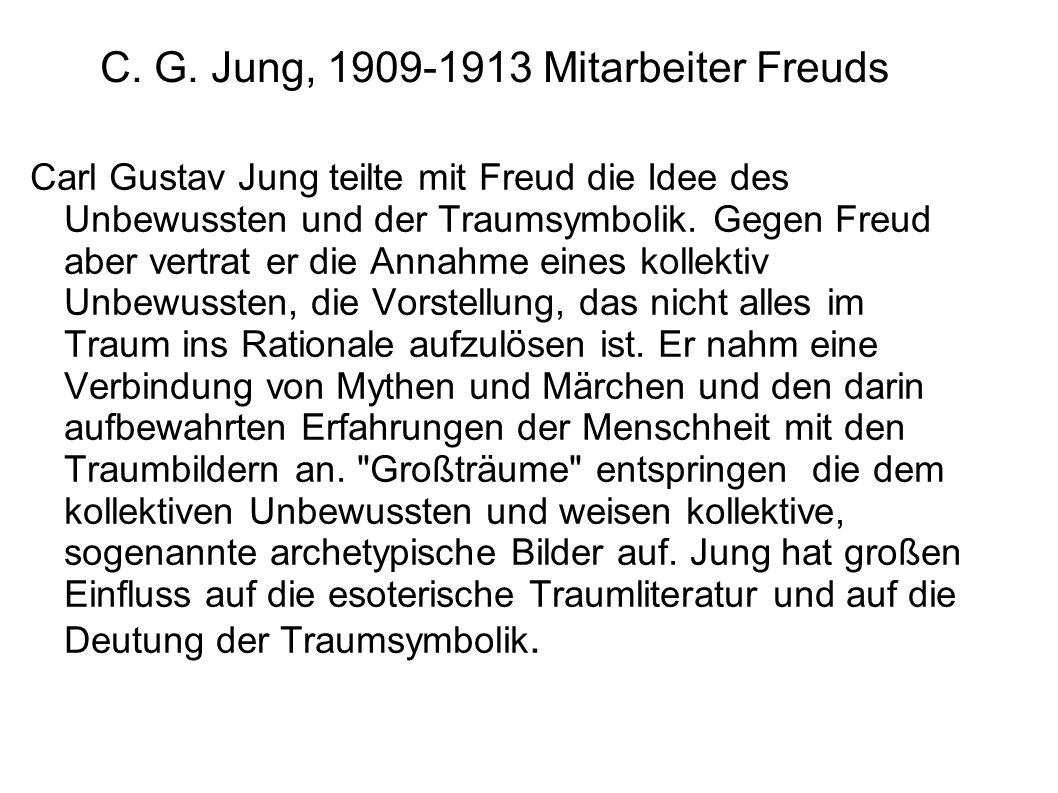 C. G. Jung, 1909-1913 Mitarbeiter Freuds