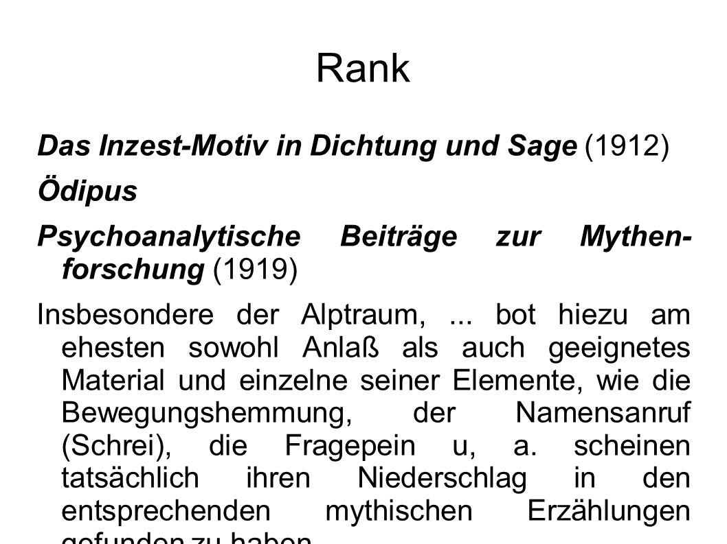 Rank Das Inzest-Motiv in Dichtung und Sage (1912) Ödipus