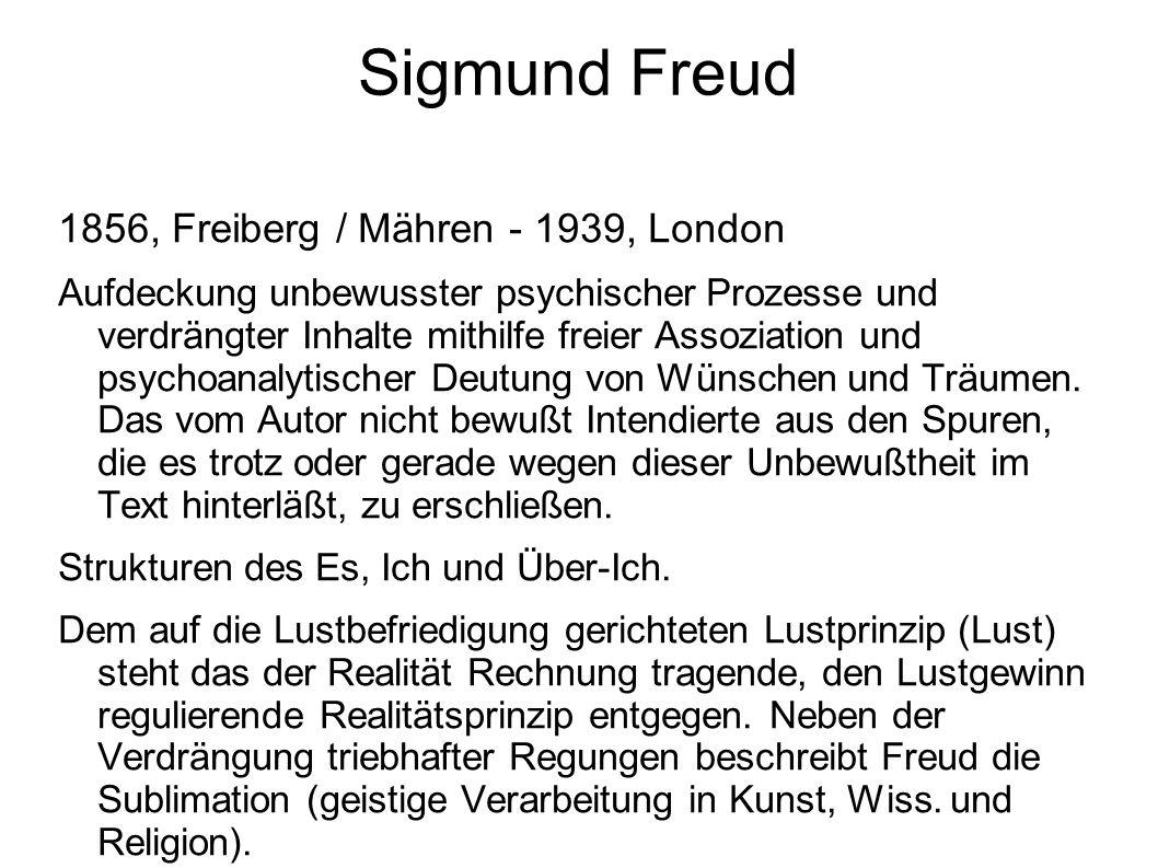 Sigmund Freud 1856, Freiberg / Mähren - 1939, London