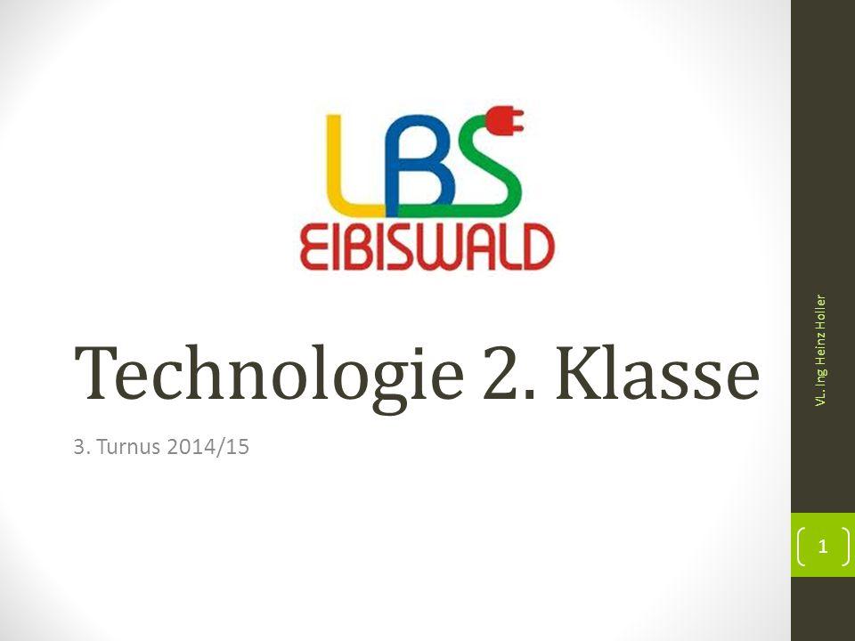 Technologie 2. Klasse VL. Ing Heinz Holler 3. Turnus 2014/15