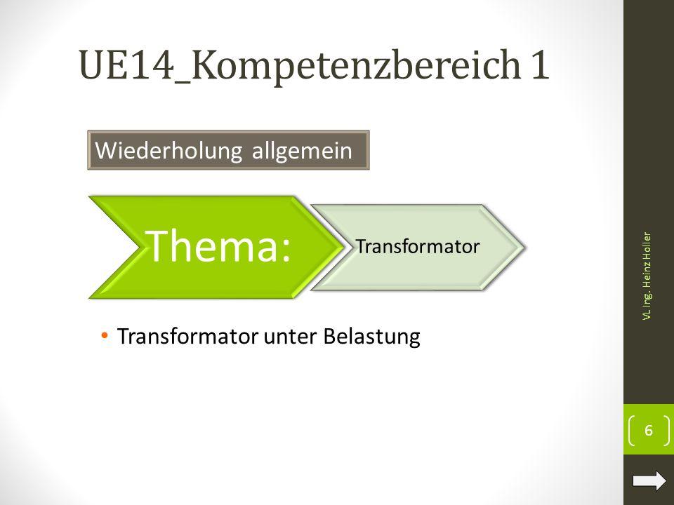 Thema: UE14_Kompetenzbereich 1 Wiederholung allgemein