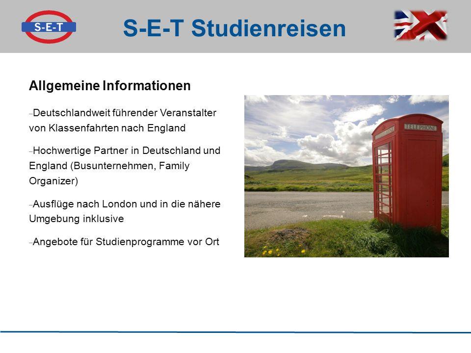 S-E-T Studienreisen Allgemeine Informationen