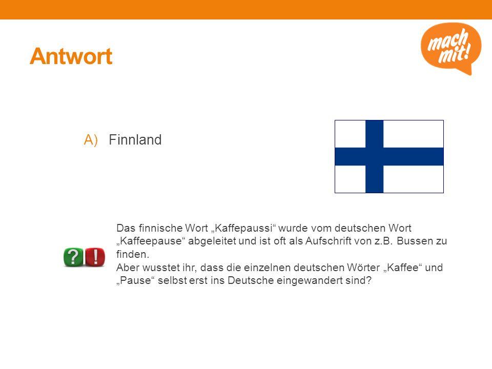 Antwort Finnland.
