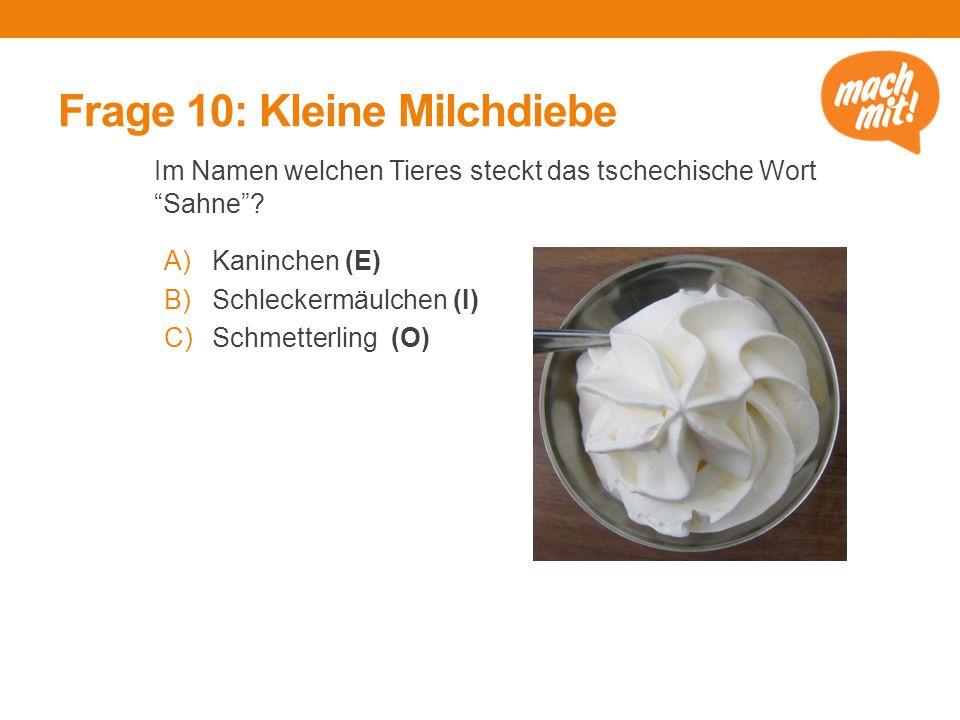 Frage 10: Kleine Milchdiebe