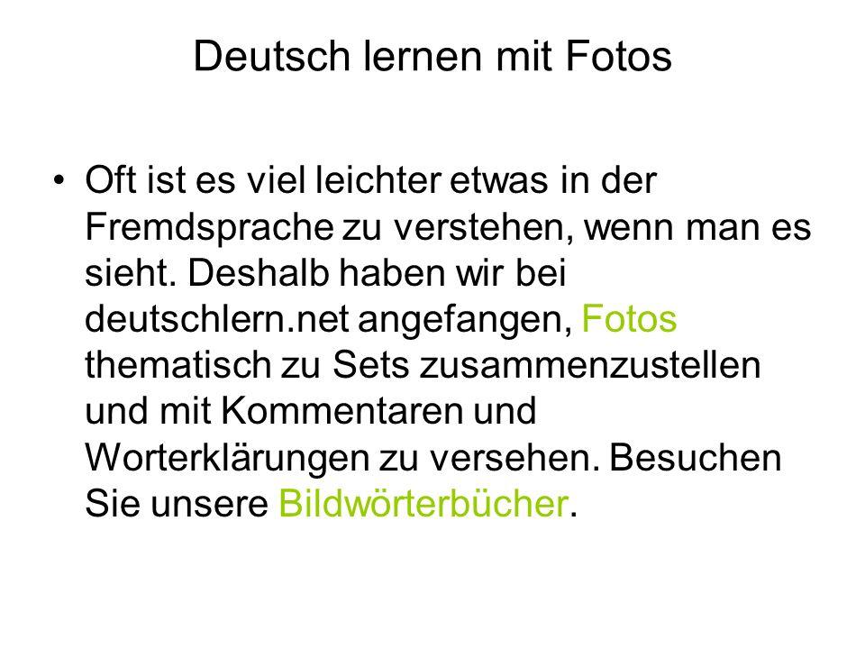 Deutsch lernen mit Fotos