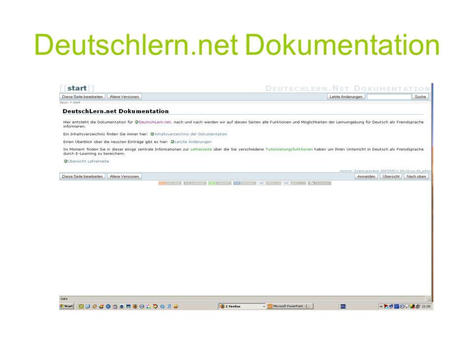 Deutschlern.net Dokumentation