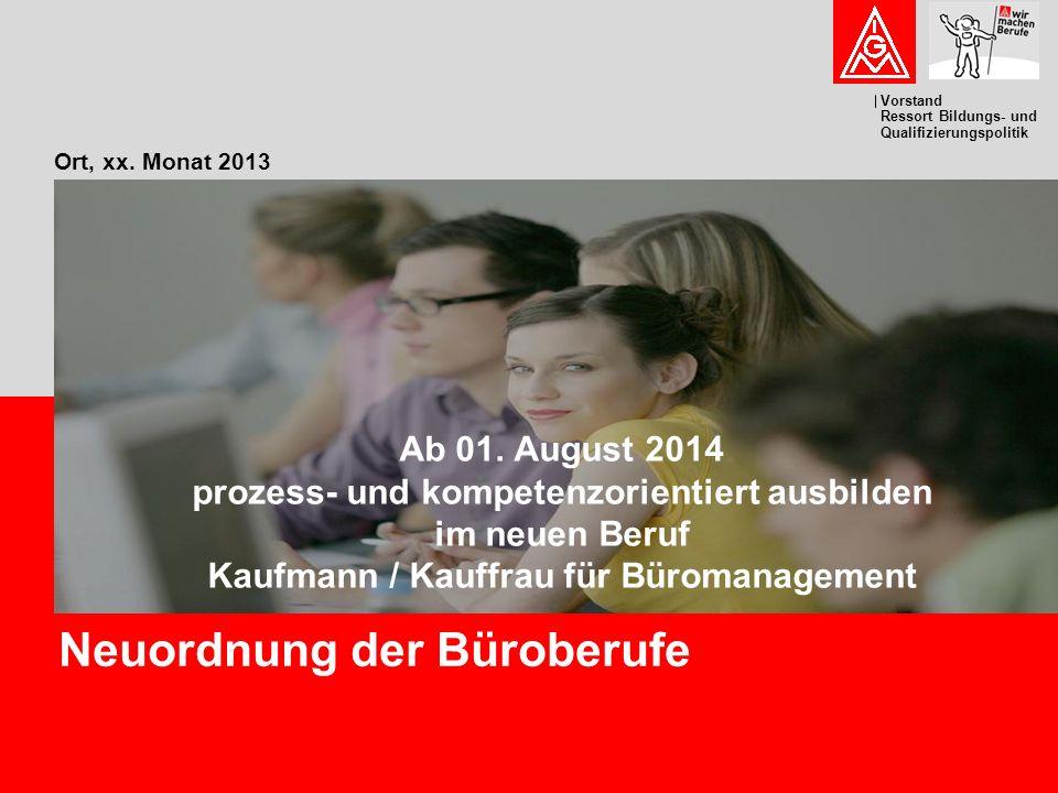 Neuordnung der Büroberufe