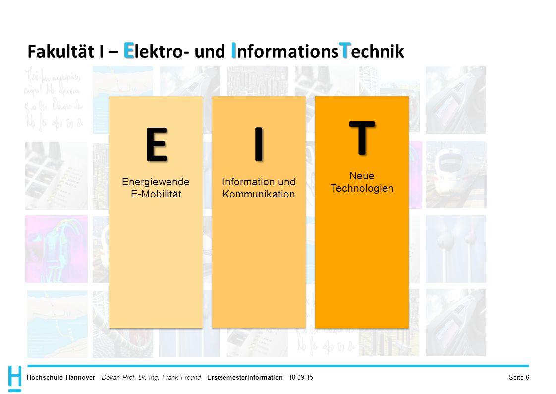 Fakultät I – Elektro- und InformationsTechnik