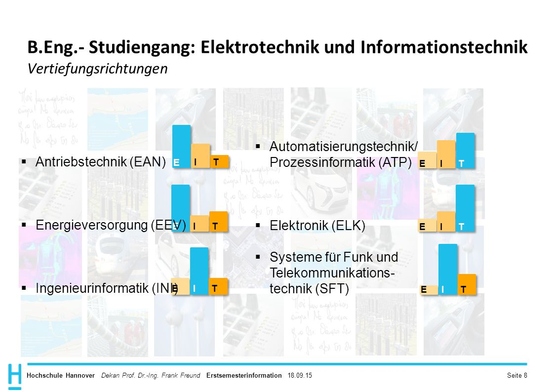 B.Eng.- Studiengang: Elektrotechnik und Informationstechnik Vertiefungsrichtungen