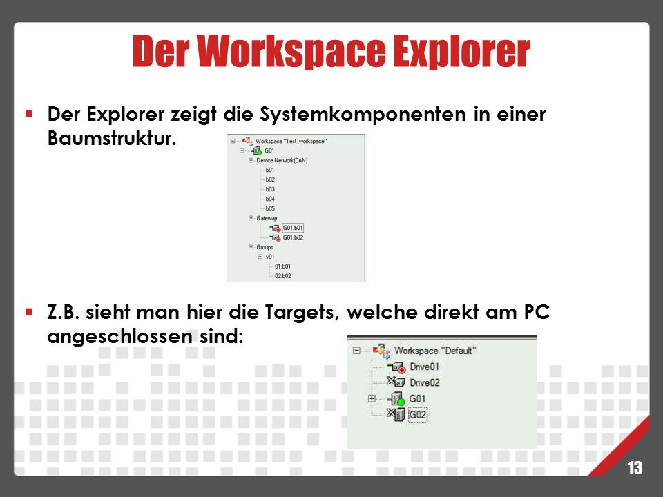 Der Workspace Explorer