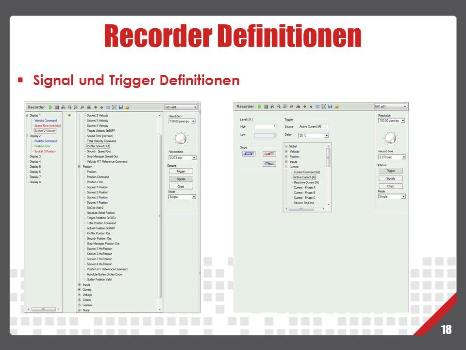 Recorder Definitionen