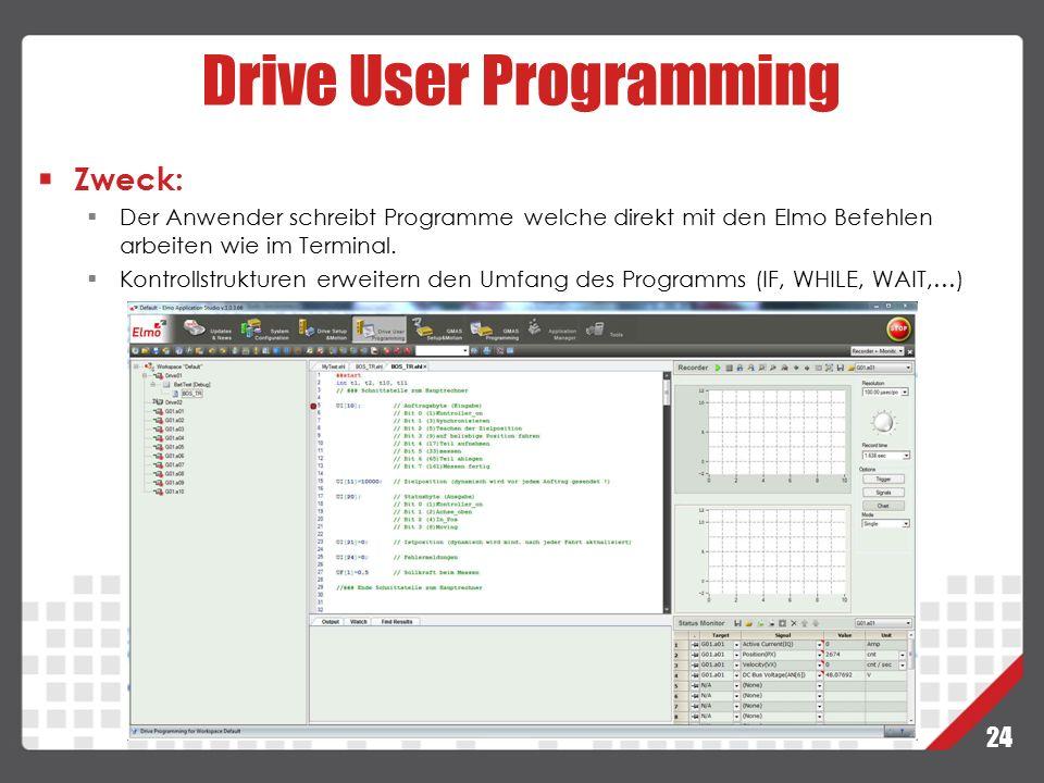 Drive User Programming