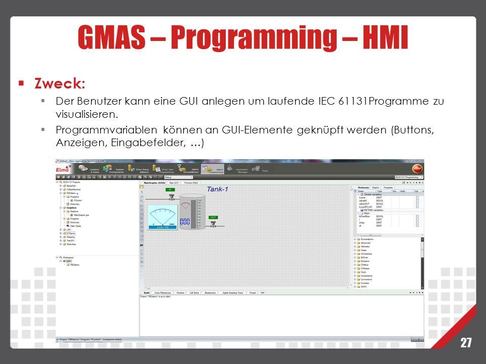 GMAS – Programming – HMI